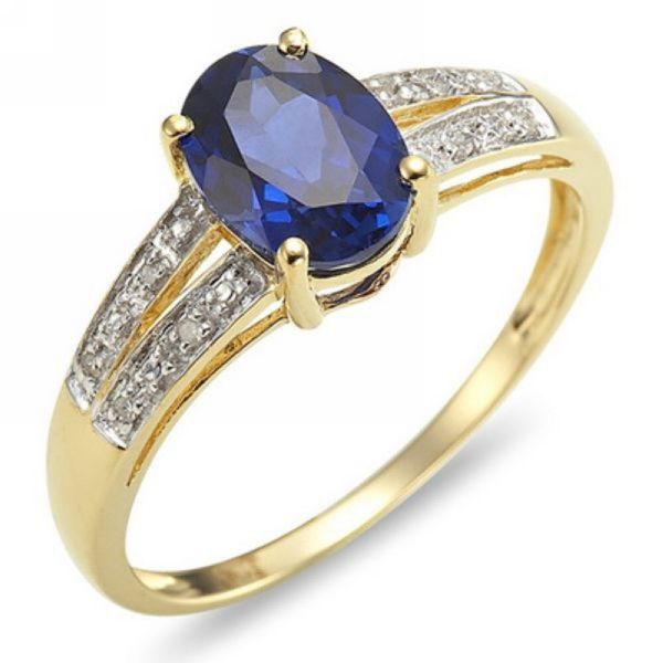 Size 678910 Blue Sapphire Gold Filled Womens