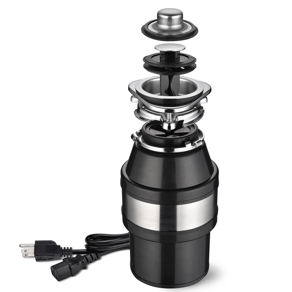 Garbage Disposal 10 HP Continuous Feed Home Kitchen Food Waste w Plug 2600 RPM  eBay