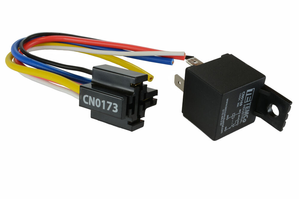 TEMCo 12V 30 Amp Bosch Style S Relay With Harness Socket