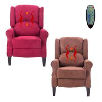 Massage Recliner Chair Heated Sofa Deluxe Ergonomic Lounge ...