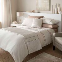 Catherine Lansfield Heat Seal Natural Duvet / Quilt Cover ...