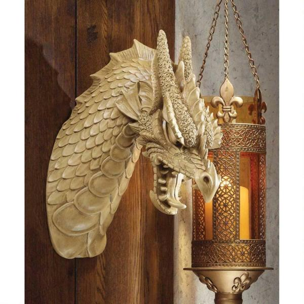St. George' Medieval Dragon Head Mounted Trophy Wall