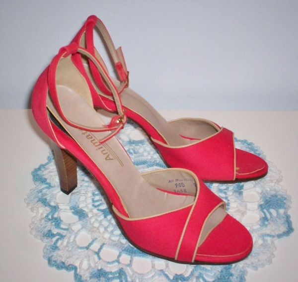 Vintage Women' Animato Dress Shoes Heels Size 9 Ankle