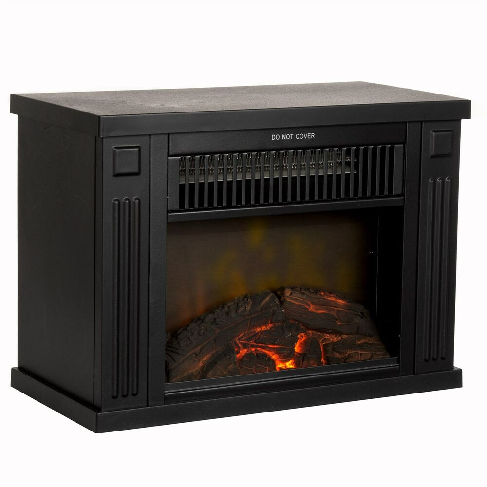 Mini Electric Black Fireplace Heater 13 Inches 1000 Watt  eBay