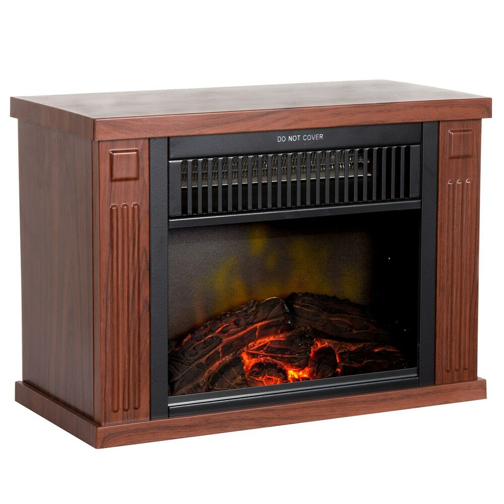 Mini Electric Fireplace Heater with Wooden Design 13 Inches 1000 Watt  eBay