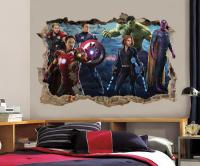 The Avengers Smashed Wall 3D Decal Removable Graphic Wall ...