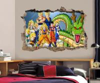 Dragon Ball Z Wall Decal Removable Wall Sticker Mural Goku ...