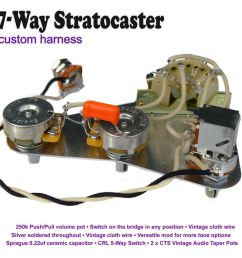 deluxe 7 way stratocaster strat wiring kit [ 1000 x 1000 Pixel ]