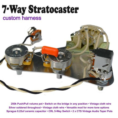small resolution of deluxe 7 way stratocaster strat wiring kit