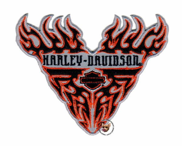 Harley Davidson Tribal Flames Bar And Shield Patch Small