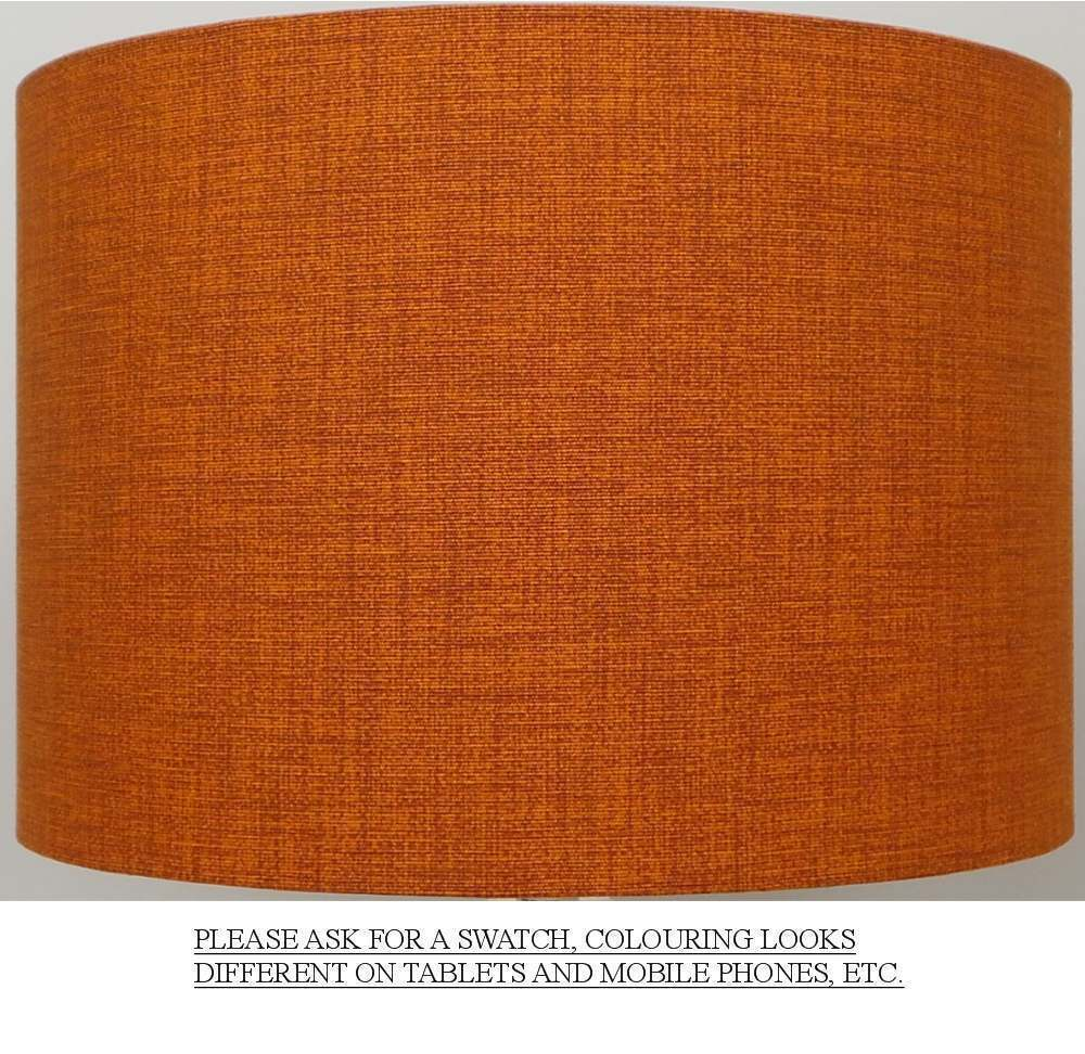 Burnt Orange / Rust Linen Style Cylinder / Drum Lampshades