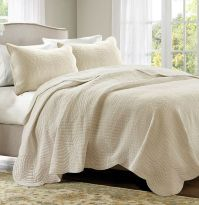 IVORY MATELASSE 3pc ** King ** COVERLET SET : COTTAGE ...