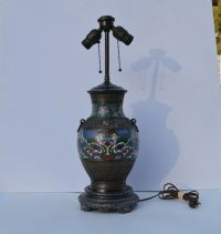 FANTASTIC ANTIQUE CHINESE STYLE CLOISONNE BRASS/IRON TABLE ...