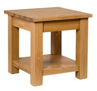 Small Oak Side Coffee Table | Solid Wood Square Bedroom ...