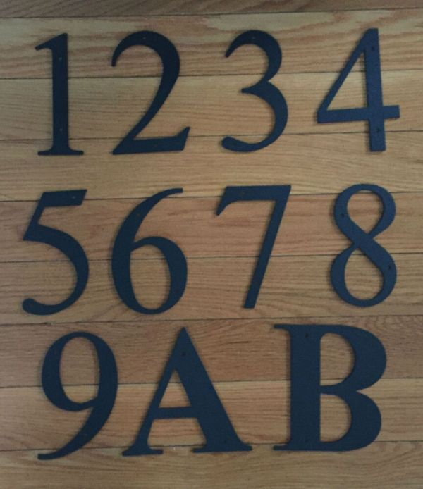Wrought Iron House Number Signs