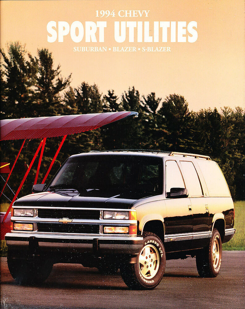 medium resolution of details about 1994 chevrolet suburban s 10 blazer 60 page original car sales brochure catalog
