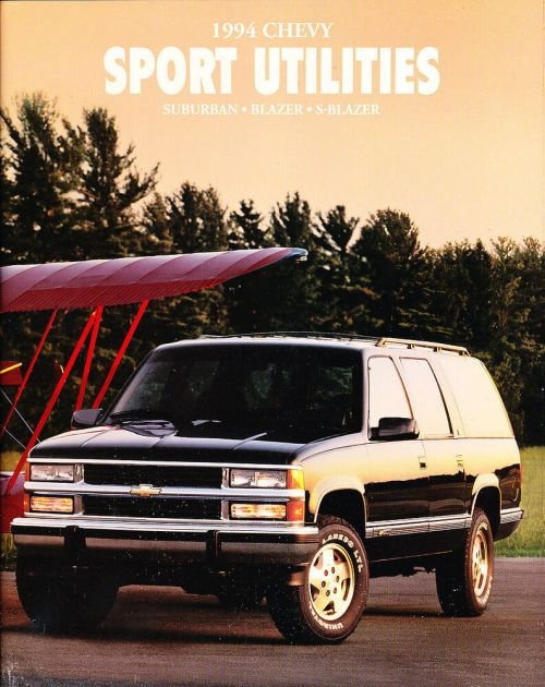 small resolution of details about 1994 chevrolet suburban s 10 blazer 60 page original car sales brochure catalog