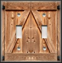 Metal Light Switch Plate Cover - Country Decor Wood Barn ...
