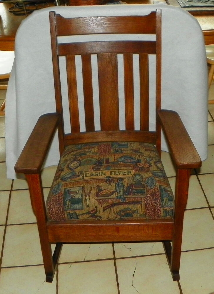 Quartersawn Oak Mission Rocker  Rocking Chair R212  eBay
