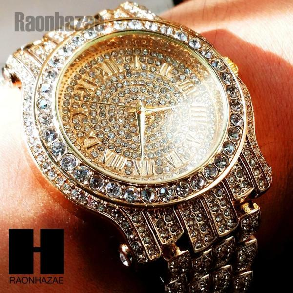 Hip Hop Iced Techno Pave14k Gold Rose Silver