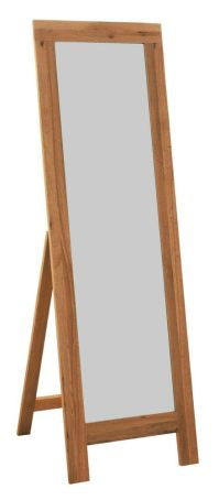 Oak Framed Cheval Mirror