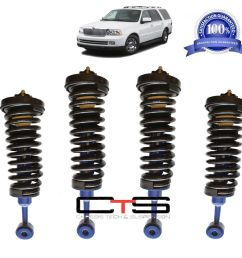 lincoln navigator air bag to coil spring struts suspension conversion kit 03 06 [ 942 x 902 Pixel ]