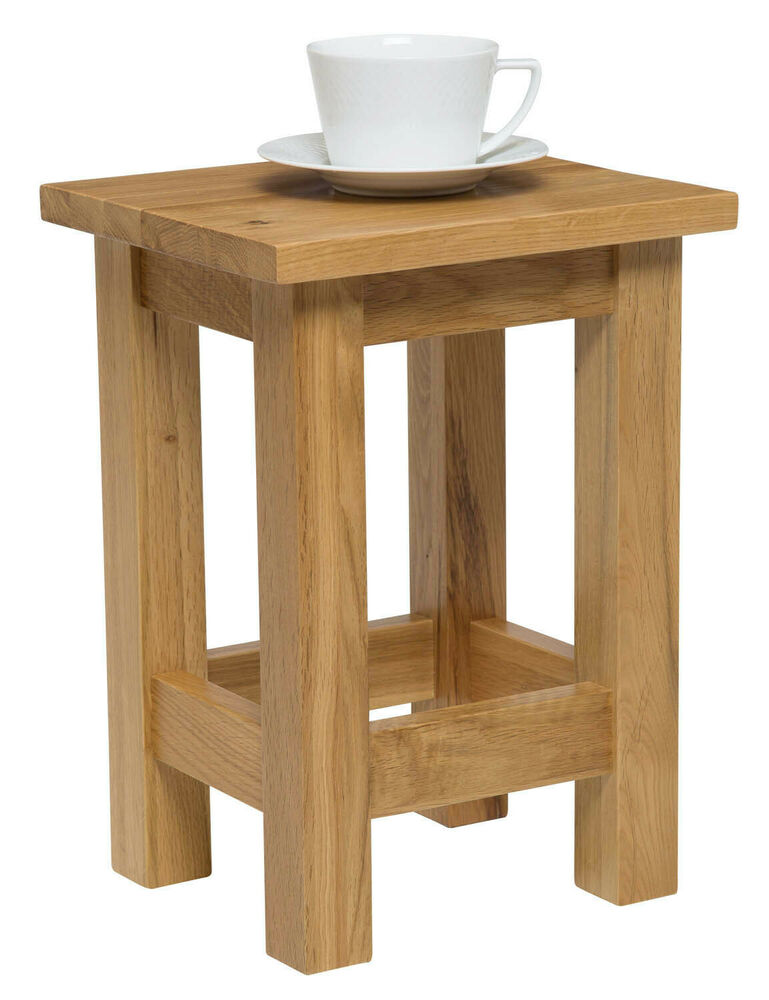 Small Oak Side Table  Solid Wood Slim OccasionalCoffee