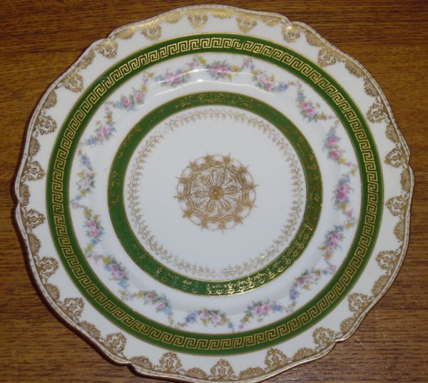 Theodore Haviland Limoges France Porcelain Plate - Gold