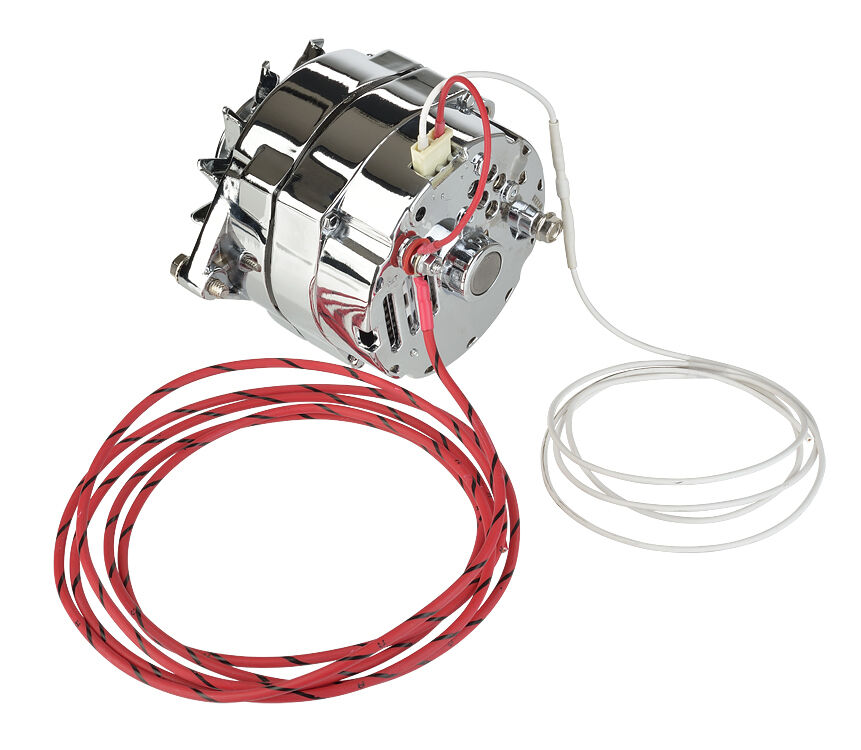 gm alternator wiring diagram 4 wire weg motor 3 phase 100 amp chrome 1 or charge light plug and battery connect | ebay