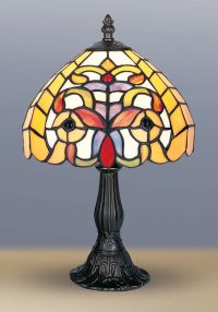 TIFFANY STYLE UNIQUE STAINED GLASS DESK TABLE LAMP LIGHT ...