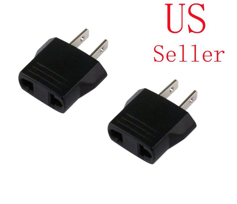 medium resolution of details about 2 x 220v to 110v travel flat plug charger adapter convert