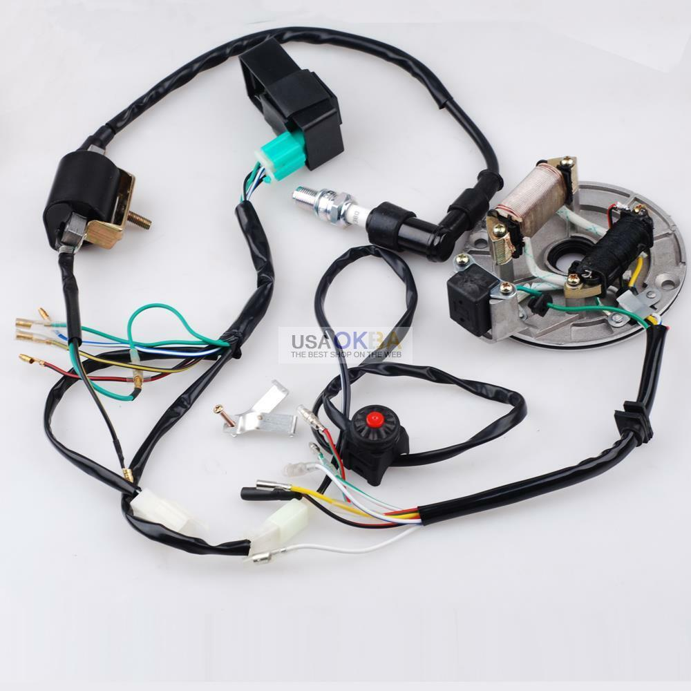 medium resolution of 50 125cc kick start wire harness cdi coil magneto fits 4 homemade pit bike wiring harness homemade pit bike wiring harness