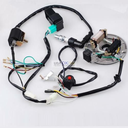 small resolution of 50 125cc kick start wire harness cdi coil magneto fits 4 homemade pit bike wiring harness homemade pit bike wiring harness
