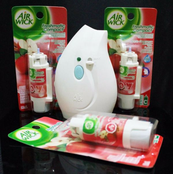 Air Wick Freshmatic Compact Apple Cinnamon Automatic Spray With 3 Refills