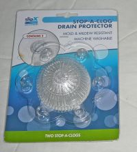 2pc Slip X Stop a Clog Drain Protect Hair Stopper Clogging ...