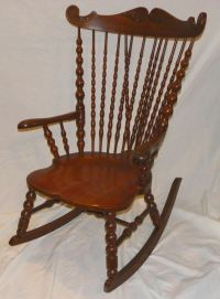 Antique Victorian High Back Oak Rocker  Rocking Chair | eBay