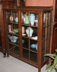 Antique Mission Oak Curio China Cabinet Arts and Crafts ...