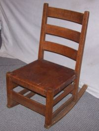 Antique Mission Oak Sewing Rocking Chair