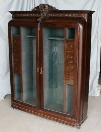 Rare Oak Antique Gun Cabinet
