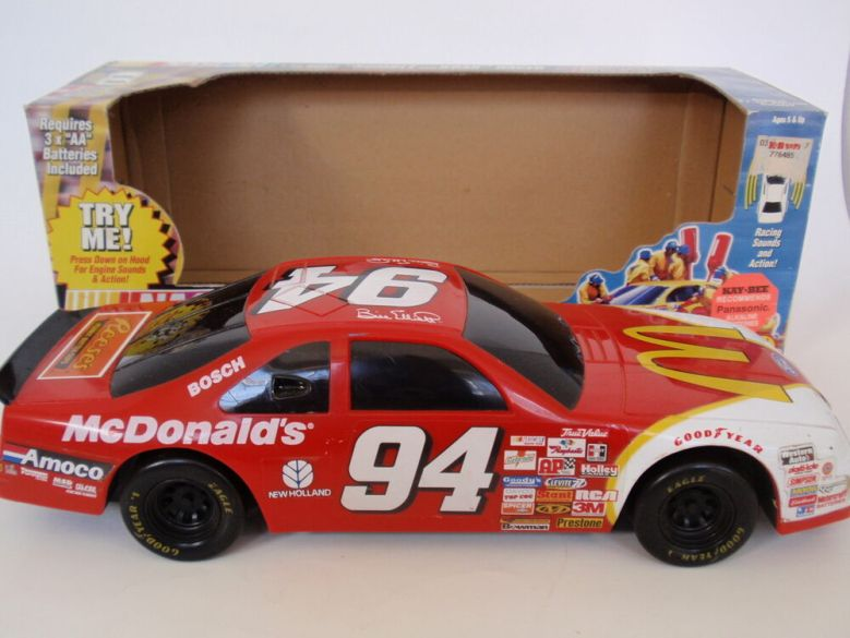 1997 Toy Biz NASCAR Rumble and Roar Car Bill Elliott #94 McDonalds IOB Used Runs | eBay