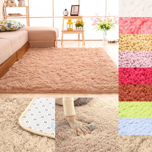 fluffy bedroom rugs Fluffy Rugs Anti-Skid Shaggy Area Rug Dining Room Home