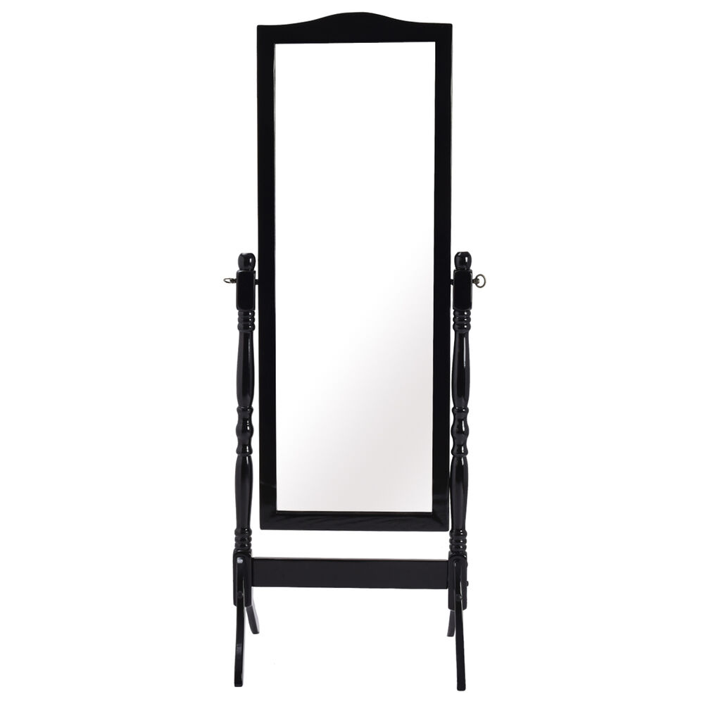 Full Length Dressing Mirror Swivel Wood Cheval Floor Standing Antique Bedroom  eBay