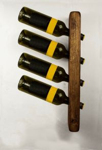 Wooden Wine Bottle Holder Rack Wall Mounted Kitchen ...