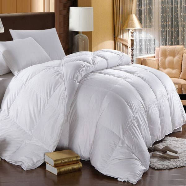 Fill Power White Goose Comforter Oversized Extra Warmth Winter Weight