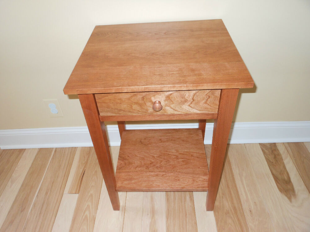 CHERRY Bedroom Bedside/ End/Nightstand Shaker Style Table
