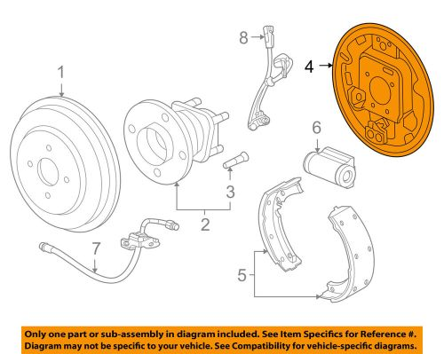 small resolution of details about chevrolet gm oem cruze rear brake backing splash dust shield plate 13381393
