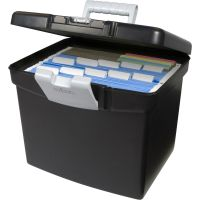 Storex Black Portable Filing Cabinet Hanging File Folder ...