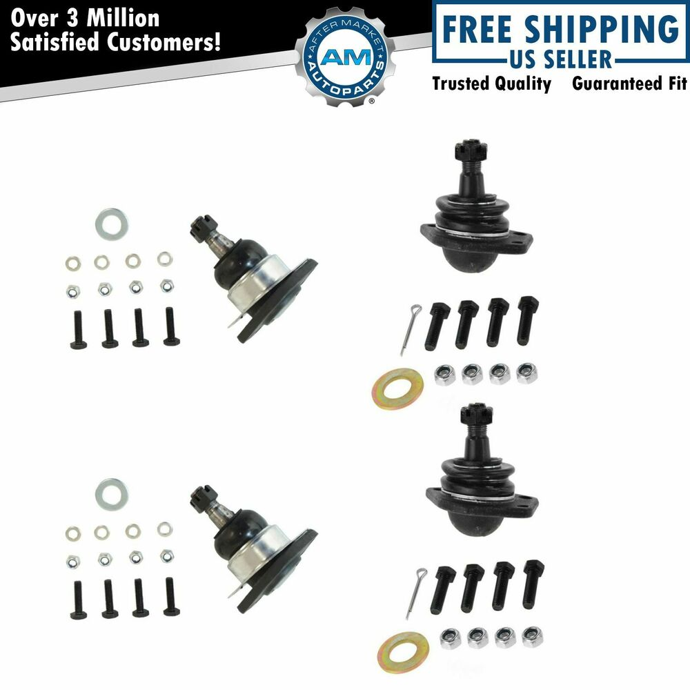 Upper & Lower Ball Joint Set of 4 for Chevy S10 Blazer