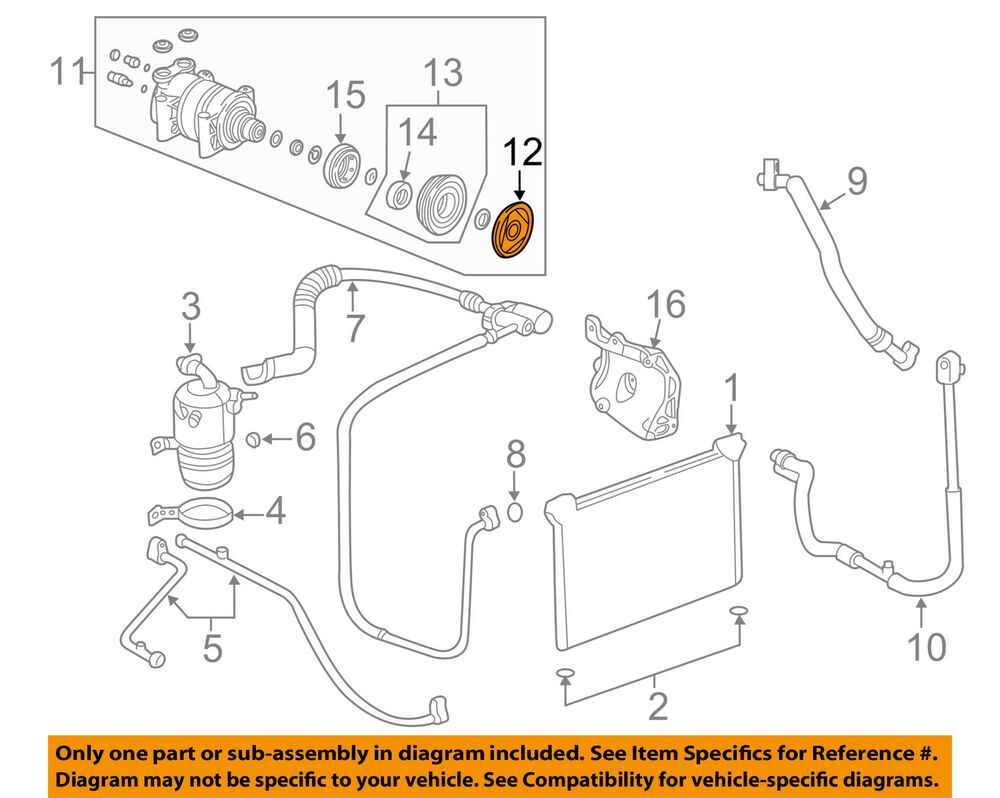 hight resolution of details about gm oem compressor clutch 20906283