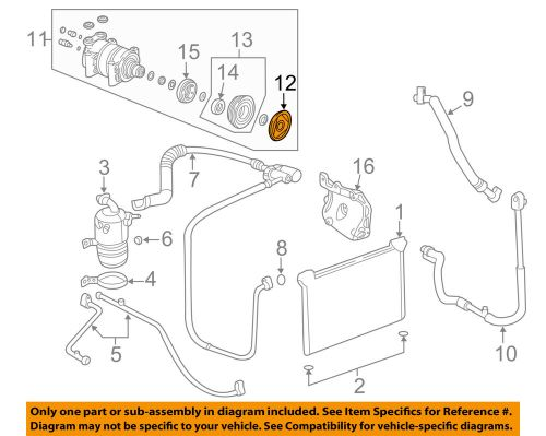 small resolution of details about gm oem compressor clutch 20906283